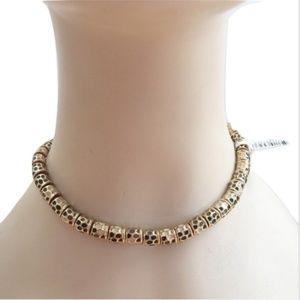 NWT Vintage St. John gold-tone costume necklace
